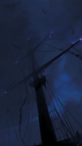 Огни святого Эльма на мачте корабля
