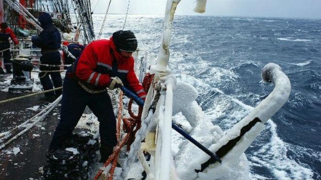 Скалывание льда