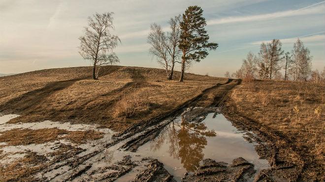 Размытая дорога