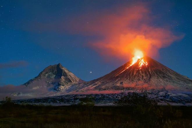 Извержение Ключевского вулкана