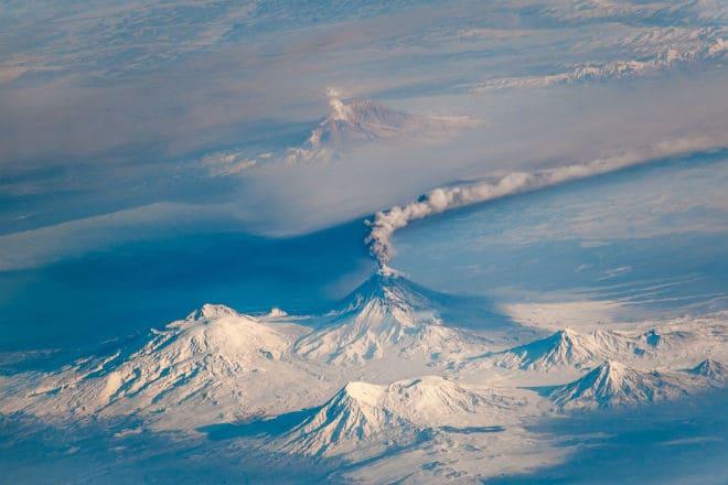 Вулкан Ключевская Сопка сверху