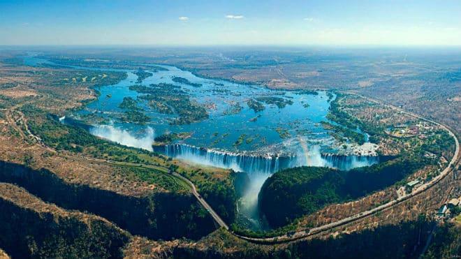 Как выглядит водопад Виктория с высоты?