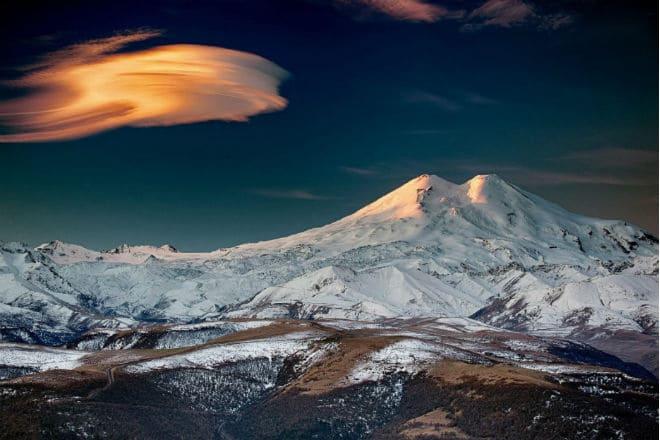 Как выглядит вулкан Эльбрус?