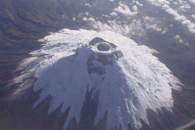 Вид сверху на вулкан Котопахи