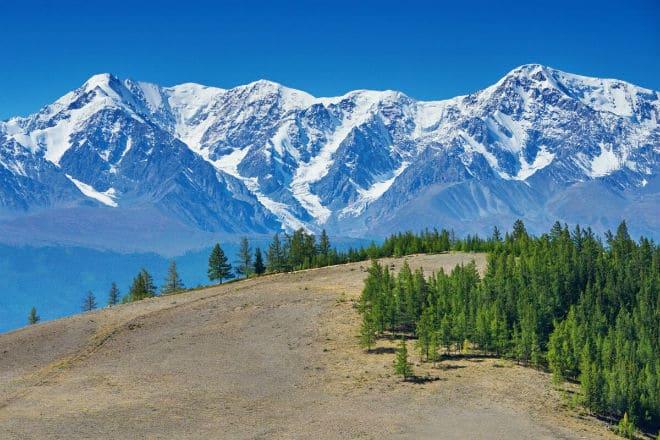 Вид на Алтайские горы