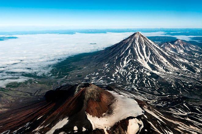 Вулкан Авачинская Сопка сверху