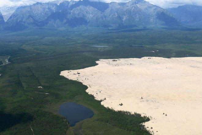 Чарские пески с самолета