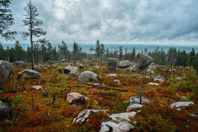 Гора Воттоваара в Карелии