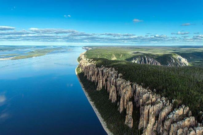 Ленские столбы на реке Лена в Якутии
