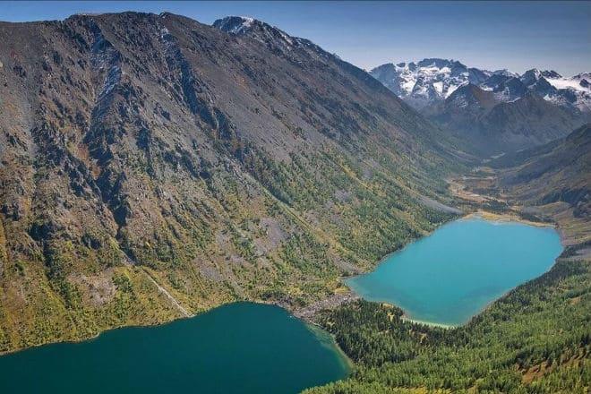 Мультинские озера на Алтае с высоты