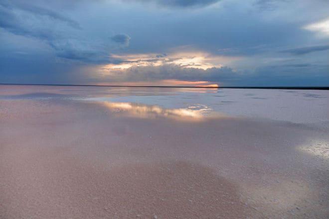Озеро Эльтон на закате