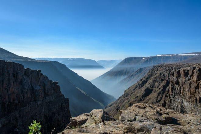Вид с горного массива плато Путорана