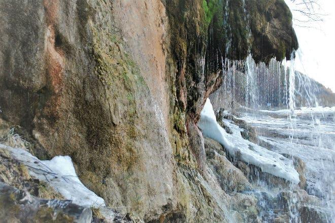 Водопад Плакун на реке Сылва