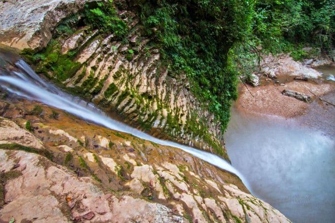 Водопады Руфабго сверху
