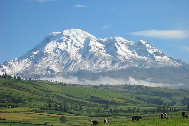 Гора Чимборасо в Эквадоре