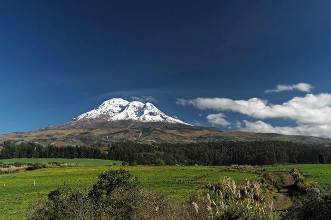 Как выглядит вулкан Чимборасо?